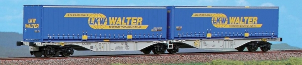 40273 ACME Containerwagen Typ Sggmrss 90 Doppelmodul CEMAT mit 2x LKW WALTER 45ft Wechselpritschen