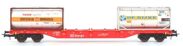 54124 B-Models Containerwagen DB-Cargo  mit 2x 20ft Tank Container BERTSCHI u. DE RIJKE beladen