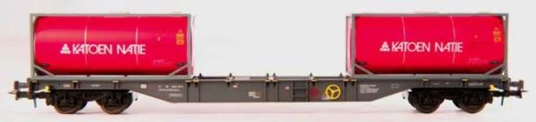 54126 B-Models Containerwagen D-ERMD  mit 2x 20ft Tank Container KATOEN NATIE beladen