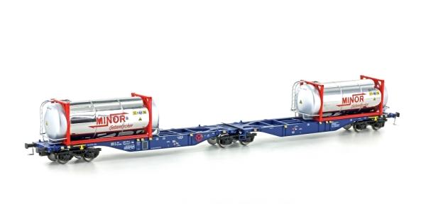 58956 Mehano Containertragwagen Bauart SGGMRSS 90 ERR