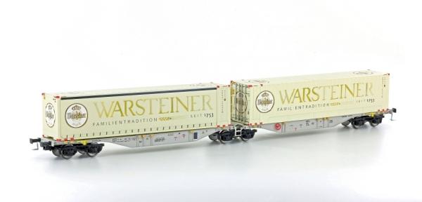 58959 Mehano Containertragwagen Bauart SGGMRSS 90 AAE