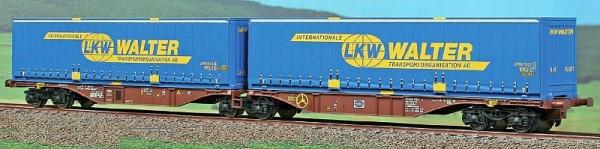 40293 ACME Containerwagen Typ Sggmrss 90 Doppelmodul TOUAX mit 2x LKW WALTER 45ft Wechselpritschen