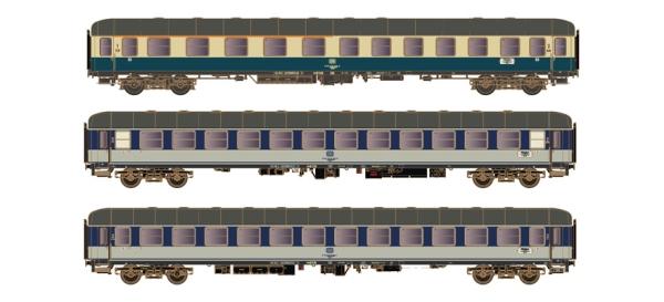 H43042 + H43044 Hobbytrain 7-teiliges Wagenset  D1248 Dolomiten-Express der DB  in DC Ausführung