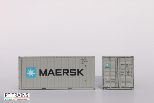 820003.1 PT Trains Spur H0 Container 20ft DV MAERSK