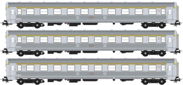 S0119 Sudexpress 3tlg. Personenwagenset Rapido der CP