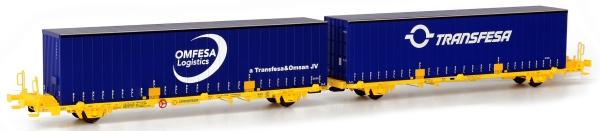 SUTF27017 Sudexpress Doppel-Containerwagen Laagrss der Transfesa